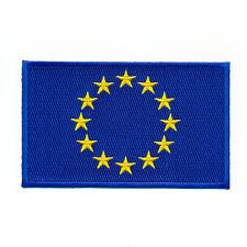 80 x 50 mm Europäische Union Europa Flagge Flag Patch Aufnäher Aufbügler 0933 X