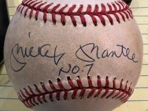 Mickey Mantle Signed Baseball with Upper Deck Sticker & Verification Letter JSH