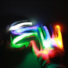 Kids Child Unisex Flash Light Gloves Colorful LED Light Gloves Mittens Gifts GS