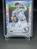 2020 Bowman Draft Chrome 1st #CDA-BHO Bailey Horn White Sox Refractor Auto /499