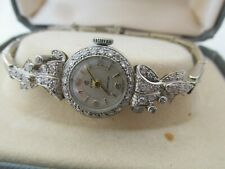 18ct White Gold and Diamond Womens Cocktail Wristwatch Watch Serviced