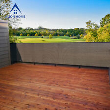 Custom Privacy Screen Patio Deck, Balcony & Fence - Mocha by Alion Home©