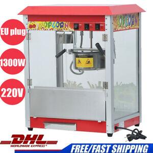 1300W Popcornmaschine Popcornautomat für den Profi- und Heimbereich Retro Design