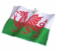 New by Asbri - Large Patriot Golf Towel - Wales Flag Welsh
