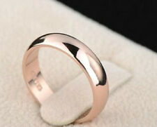 18K ROSE GOLD PLATED SIMPLE BAND WEDDING RING MEN/WOMEN SIZE: K, L, M O Q, W1/2