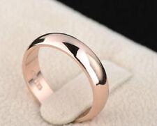 18K ROSE GOLD PLATED SIMPLE BAND WEDDING RING MEN/WOMEN SIZE: K,L M N O, Q,W1/2