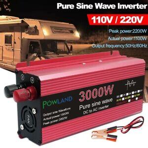 Pure Sine Wave Inverter DC 12V 24V To AC 110V 220V Voltage 800W 1600W 2200W 3000