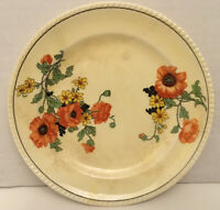 Vtg Sebring Pottery Co Golden Maize 'The Poppy' Small Dessert Plate Floral F-2