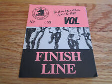 92nd BOSTON MARATHON April 18, 1988 FINISH LINE Laminated Security Badge