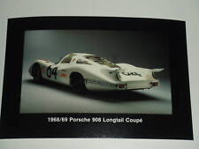 Porsche Factory 1968 908 Longtail Collector Post Card Postcard RARE Awesome L@@K