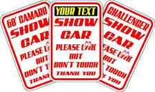 """PERSONALIZED SHOW CAR PARKING SIGN * NEW * QUALITY ALUMINUM SIGNS 12"""" x 18"""""""