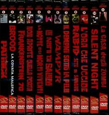 12 DVD COLLEZIONE CULT HORROR SERIE COMPLETA ORIGINALI E MAI APERTI NEW SEALED