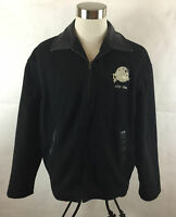 Vintage Planet Hollywood Jacket Mens Large Wool Leather 1991 New York Made in US