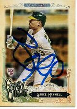 Bruce Maxwell Oakland Athletics 2017 Topps Gypsy Queen Signed Card