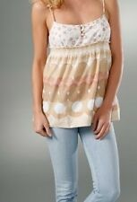 NWT Juicy Couture Mixed Print Swiss Dot Top Luxe size 6  retail $128