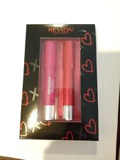 Revlon love is on holiday kisses gift set matte and lacquer balm 0.095 oz each