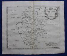 BEDFORDSHIRE original antique map from CAMDEN'S BRITANNIA, Robert Morden 1722