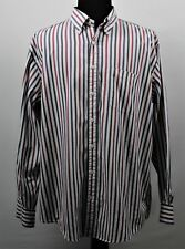 Nordstrom Mens XXL Long Sleeve Button Front Striped 100% Long Staple Cotton