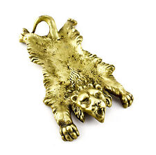 A vintage brass lion ashtray / card tray. French or Belgian. Early - mid 20th C