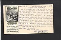 "CLEVELAND, OHIO 1914,  GPC.,ADVT ""BELLS BEST, ELASTIC ROOF PAINT."