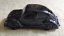 Avon Vw Volkswagen Black Beetle Bug Car After Shave Bottle Decanter Glass Empty
