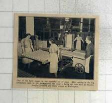 1940 Soap Being Cut Into Bars At A Joseph Crosfields Works Warrington