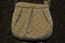 NWOT Coach Signature BLUSH Crossbody Messenger Pleated PARKER Swingpack