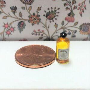Dollhouse miniature 1:12 beauty Vintage Label Bottle of Mouthwash