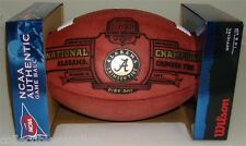 Alabama Crimson Tide BCS National Champions Limited Leather Full Size Football