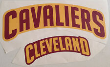 """Cleveland Cavaliers Fathead Lot of (2) Team Graphics (18.5""""x5"""" & 11.5""""x3.5"""")"""