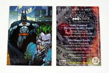"1996 ""BATMAN"" SKYBOX MASTER SERIES PROMO TRADING CARD - GOOD CONDITION"
