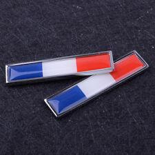 2x Voiture France Français Drapeau Sticker Badge Emblème 3D Décalque