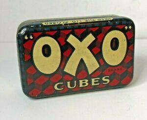 Early OXO Cubes tin Small For 6 cubes Internal Fray Bentos Advert 7 x 4 x2 cm's