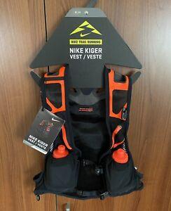 Nike Unisex Kiger Trail Running Vest Size Medium Black Orange