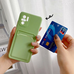 For Xiaomi Redmi Note 10 9 Pro 9T Mi 11 Card Holder Wallet TPU Soft Case Cover