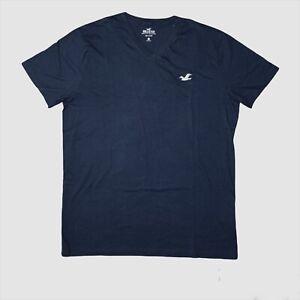 Hollister Men's Must-Have Collection V Neck Black T-shirt 100% Cotton Sz Large