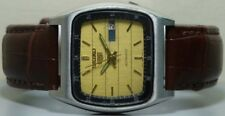 Vintage Seiko Automatic Day Date Mens Stainless Steel Wrist Watch Old Used s198