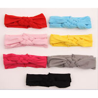 1 X Sweet Girl Kids Knot Hairband Turban Headband Headwear for Baby Toddler<c