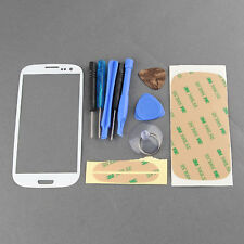 NEW White Front Outer Screen Glass Lens Cover for Samsung S3 SIII i9300 Tools