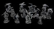 Drachen Figuren klein - Schwarz 12er Set - Dragon Set Fantasy Gothic