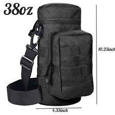 Military MOLLE Tactical Travel Water Bottle Kettle Pouch Carry Belt Waist Bag