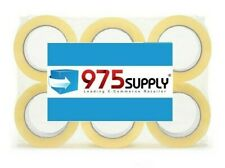 """6 Rolls Packing Tape, Super Heavyweight 3.5mil 2"""" x 55yds (Crystal Clear)"""