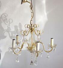 Alte Kronleuchter Lüster Lampe Antik Kristall Hängelampe 5 Flammig (15)