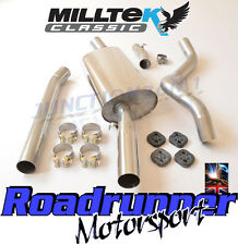 Milltek Golf GTi MK1 Exhaust System Non Resonated Stainless Downpipe Back 2.25""