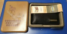 FOSSIL Men's Black Leather EVANS Small INTL Bifold Wallet with Coin Pocket - New