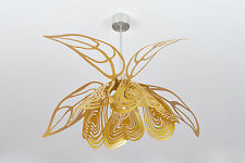 Modern Golden Ceiling Lamp Unique Contemporary Designer Handmade Light Gold