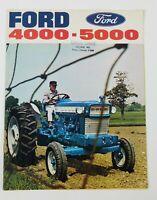 Vintage Ford Tractors 4000 5000 Catalogue Brochure Sullivan Wisconsin Advertise