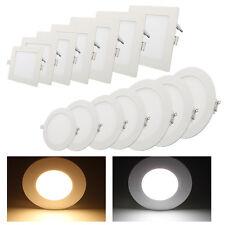 Ultraslim LED Panel Leuchte Deckenleuchte Einbaustrahler Wandleuchte Weiß 3W-18W