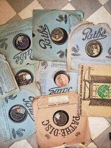 lot 10 disques  divers 78  tours Vinyles vinyls vinyles vyniles