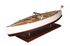 Modellboot Holz Schiffsmodell Amerikanisches Motorboot Modellschiff Boot Deko